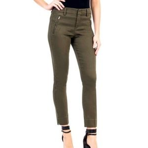 LEVEL 99 Olive Green Cropped Pant